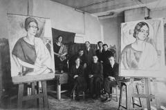 1923 Konrad Mägi koos oma õpilastega