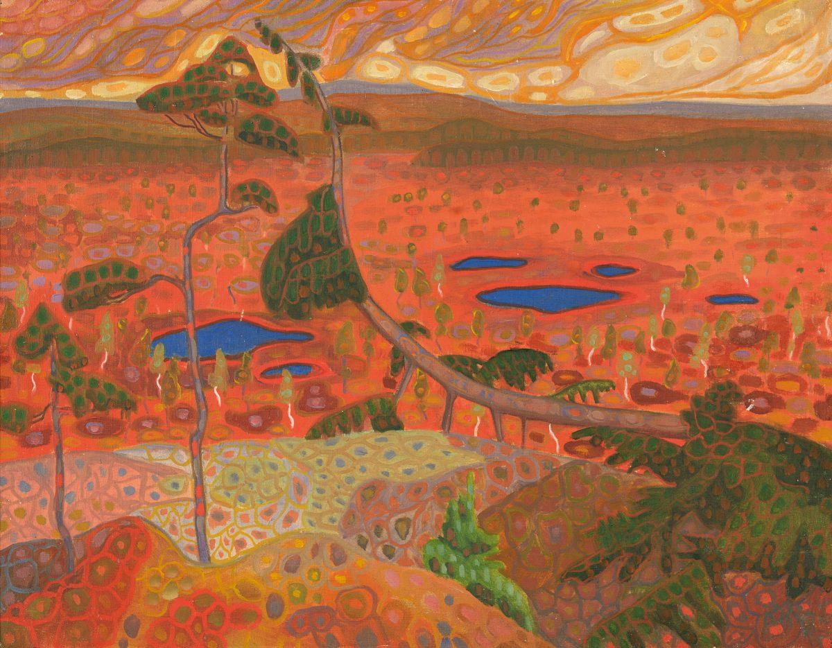 Norwegian Landscape with Pine. 1908–1910. Art Museum of Estonia