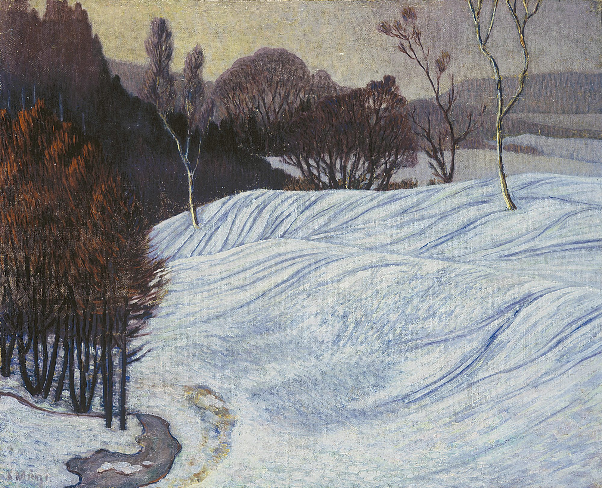 Norwegian Landscape. (Winter Landscape)