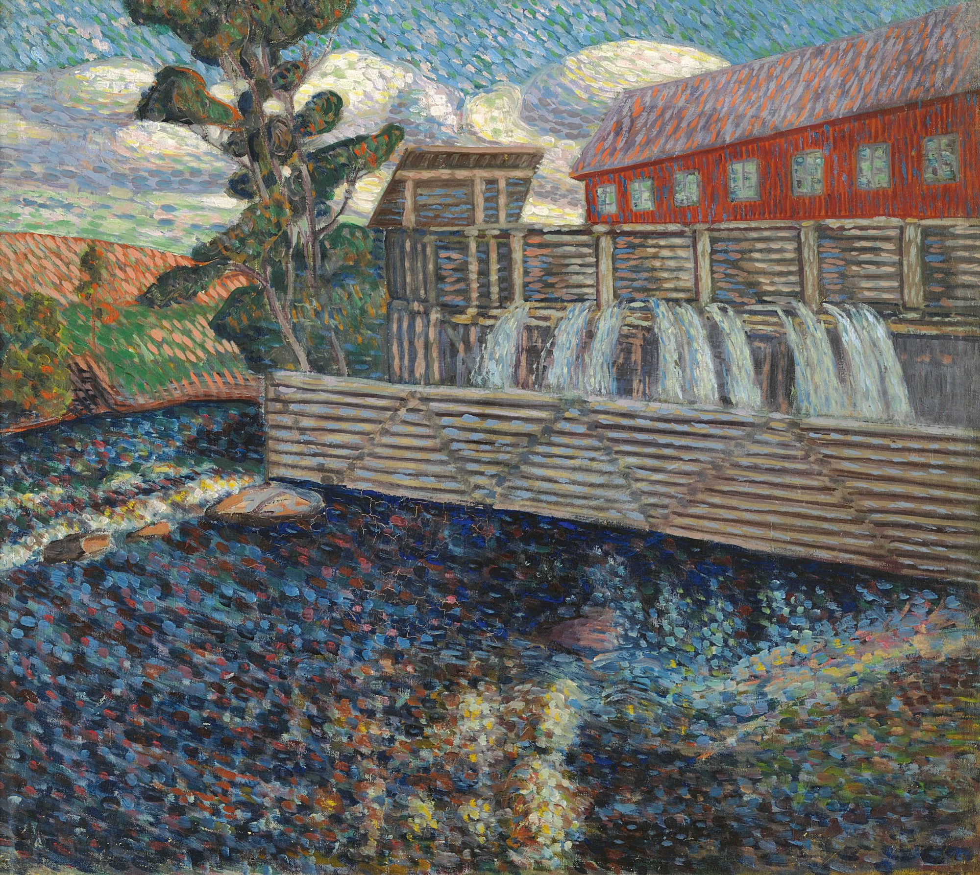 Norwegian Motif with a Water Mill