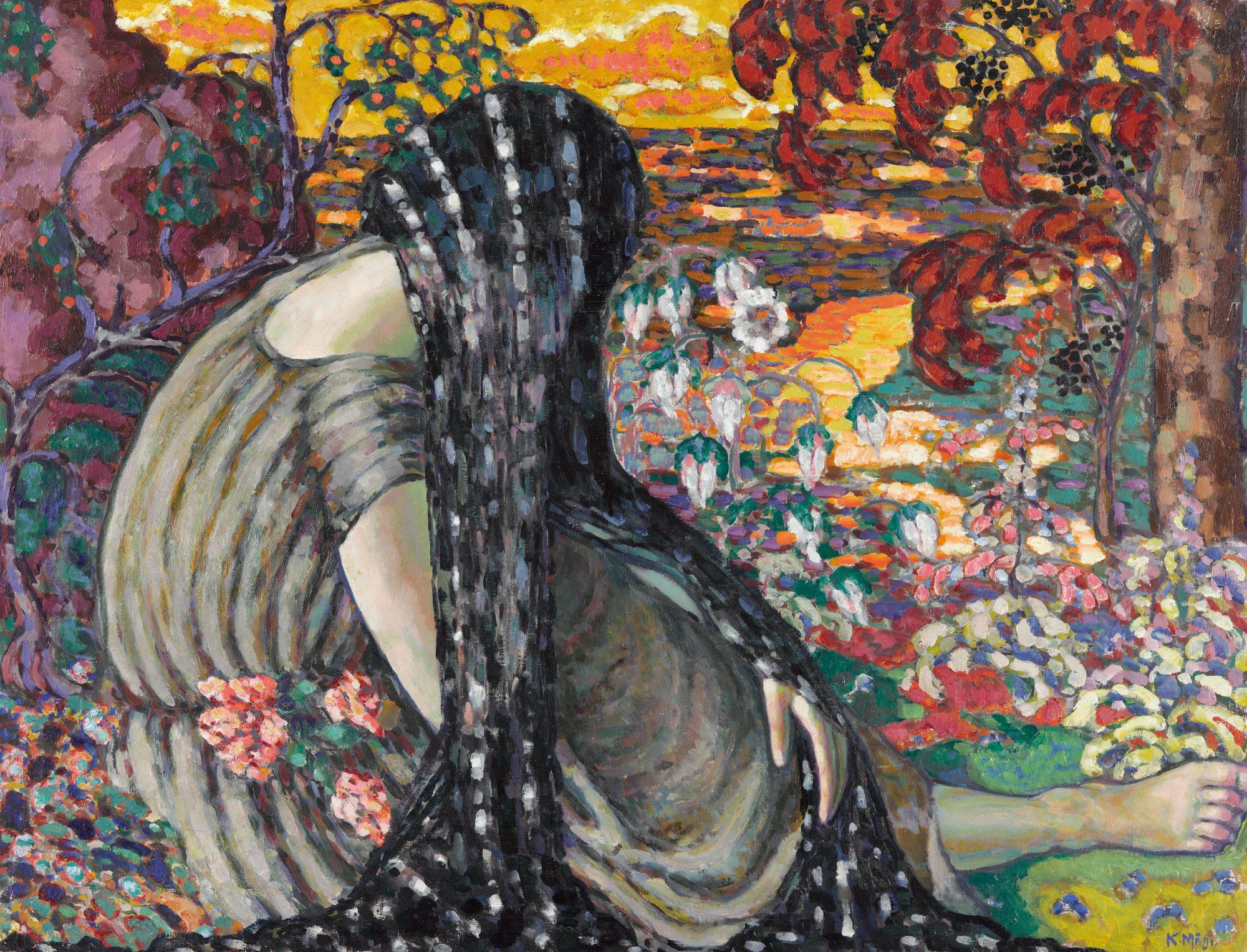 Meditation. (Landscape with a Lady)