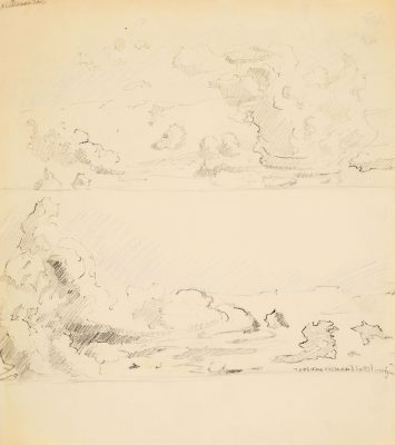 Two sketches of clouds